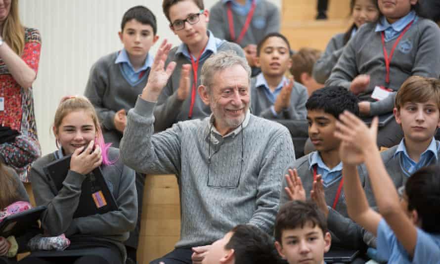 Michael Rosen teaching a workshop at Trumpington Community College in January