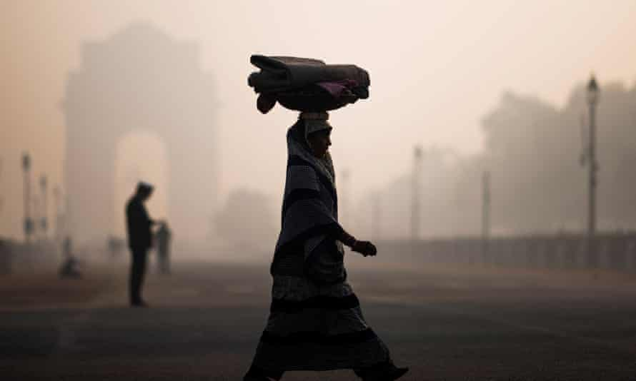 Smoggy conditions in New Delhi
