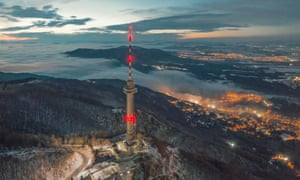 Kopitoto TV tower in Bulgaria