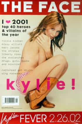 Kylie Minogue on the January 2002 cover of The Face.