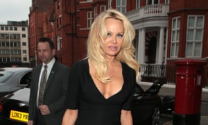 Pamela Anderson seen arriving at the Ecuadorian Embassy in May 2017.