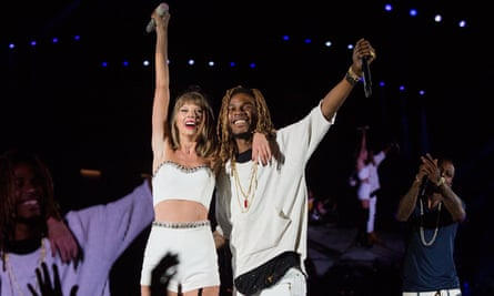 Performing Trap Queen with Taylor Swift, August 2015