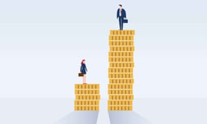 An illustration reflecting the gender pay gap