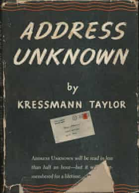 Address unknown novel cover