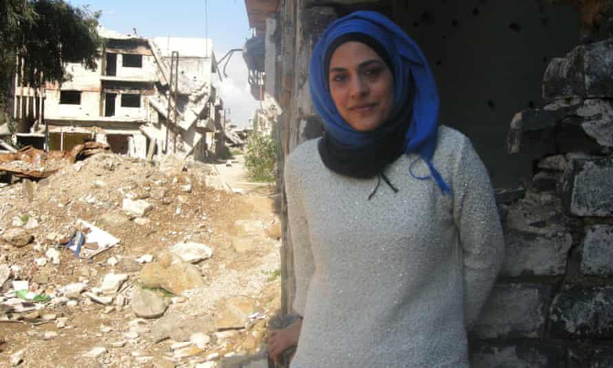 'A beautiful soul': Marwa al-Sabouni in Homs last week in a photograph taken by husband.