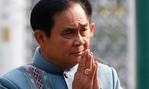 The Thai prime minister ,Prayut Chan-o-cha, has called for peaceful elections.