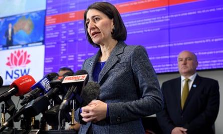 NSW premier Gladys Berejiklian addresses media on Tuesday.