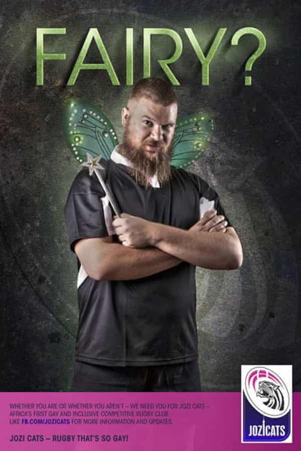 One of the posters released by the Jozi Cats rugby club.