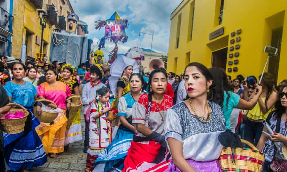 The annual Guelaguetza festival hits the streets in Oaxaca every July.