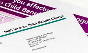 A letter sent by HMRC to high income earners warning about reduction of child benefit for anyone earning more than £50,000.