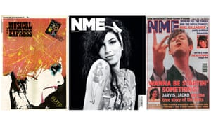 Front covers of the NME. The Slits (7 October 1978), Amy Winehouse (30 July 2011) and Pulp (2 March 1996)