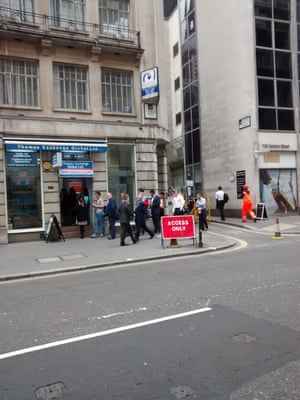 A foreign exchange dealership on Cannon Street, in the City of London