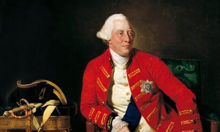 Detail from portrait of George III by Johan Joseph Zoffany