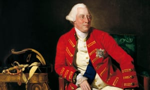 A portrait of King George III by Johan Zoffany.