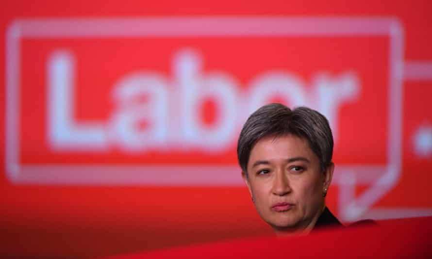 Labor's Penny Wong, who Bruce says has 'got more balls than half the blokes'.