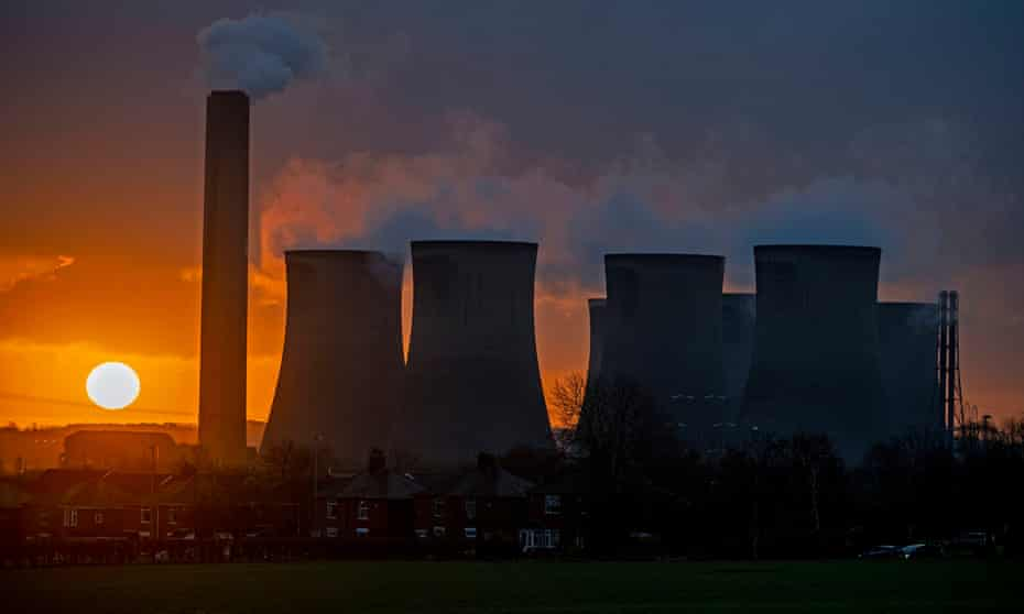 The now closed Fiddlers Ferry power station in Warrington.