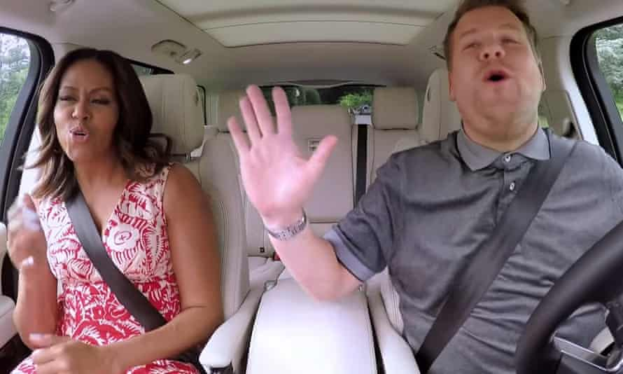 The Late, Late Show, featuring Michelle Obama with James Corden on his popular Carpool Karaoke sketch.