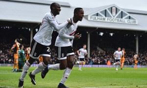 Fulham's Ryan Sessegnon celebrates his goal in the hosts' 4-1 thrashing of Hull City.