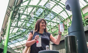 A drinking fountain recently introduced in London's Borough Market as part of its plan to become plastic-free