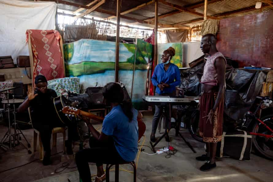 A women's music group at Juba Youth Centre