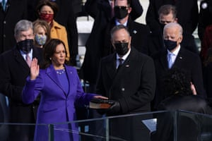 Kamala Harris is sworn in as Vice President of the United States.