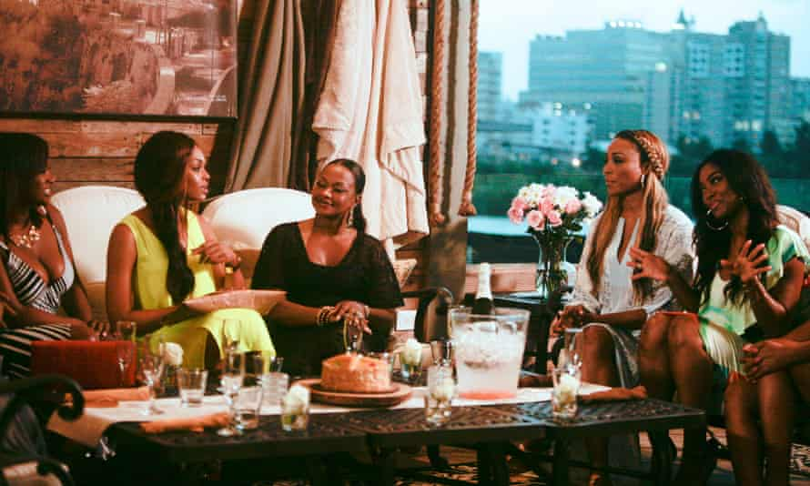The cast of Real Housewives of Atlanta season 7. Atlanta was the first city chosen when producers expanded the series from Orange County 10 years ago.