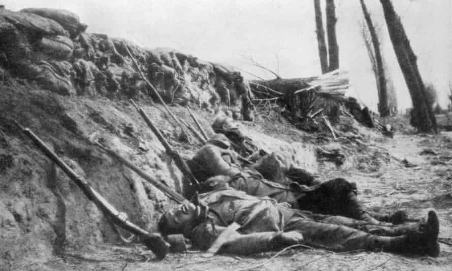 On 22 April 1915 the Germans released 168 tons of chlorine gas over a four mile front, in the first gas attack of the war, killing many of the French Zouave infantry in Second Battle of Ypres, Belgium.