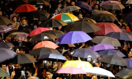 Civil servants protest in Hong Kong