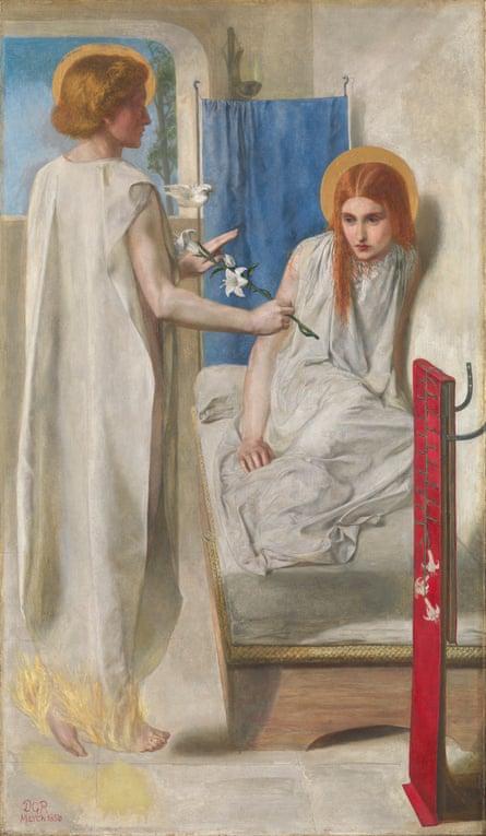 Ecce Ancilla Domini by Dante Gabriel Rossetti … starring his sister, the acclaimed poet Christina Rossetti.
