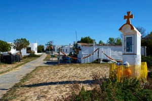 Nicho, a place of worship just by the beach. Fishermen pay their tributes to Nossa Senhora de Fátima before boarding their small boats and set sail across Ria Formosa