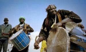 """musicians at the festival au desert, """