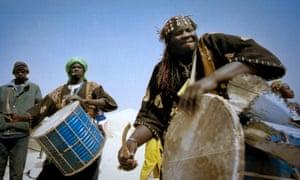 Musicians at the Festival in the Desert, Mali, 2007.