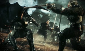 A scene from the video game Batman: Arkham Knight.