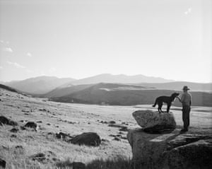 My neighbor John Hoiland and his dog, Zippy, McLeod, MT 1997