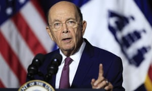 Commerce department secretary Wilbur Ross in Washington in July. The trial is proceeding on schedule despite the Trump justice department's invitation to the supreme court to block it.