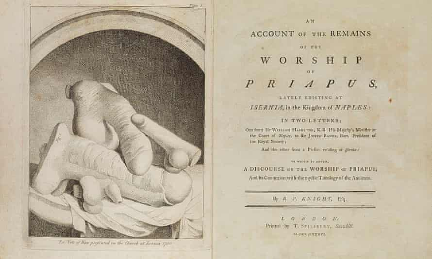 The frontispiece to Richard Payne Knight's An Account of the Remains of the Worship of Priapus showing waxwork votive offerings.