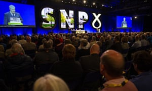 Ian Blackford, the SNP's leader at Westminster, speaking at the conference earlier this morning.