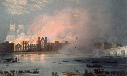 Houses of Parliament fire 1834