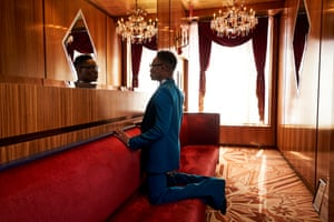 Billy Porter wearing Givenchy suit and shirt, Gucci boots, Native Ken glasses Fashion editor Jo Jones Photography Heather Favell Styling Sam Ratelle at RRR Creative Grooming La Sonya Gunter With thanks to russiantearoomnyc.com