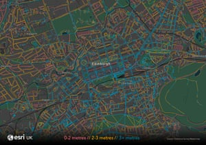 Esri UK Edinburgh zoom map.