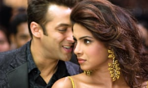 Bollywood superstar: starting out on her film career in Salaam-E-Ishq with Salman Khan.