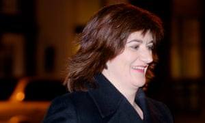 Nicky Morgan MP arrives at a Tory fundraising event in central London.
