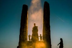 Druid magic … Mackenzie Crook in Britannia.