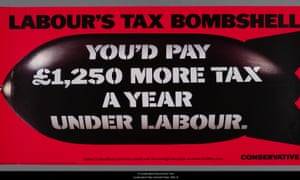 Labour's tax bombshell - Tory poster in 1992