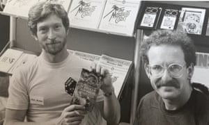 'Penguin's MD laughed so hard his head hit the desk' … Steve Jackson, left, and Ian Livingstone in 1982.
