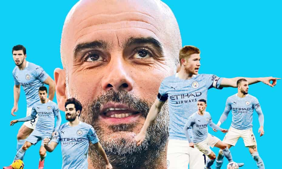 Pep Guardiola has led Manchester City to the verge of another Premier League title.
