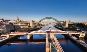 Bridges crossing the river Tyne, Newcastle upon Tyne.