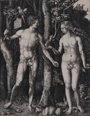 Albrecht Dürer's Adam and Eve, 1504.