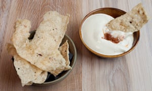'It's with the first proper snack that the fireworks go bang': beef tendon crackers and oyster cream.