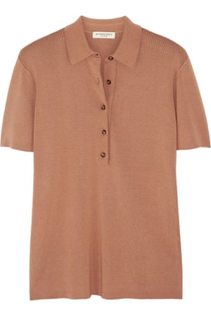 """£350 by Burberry London from <a href=""""http://www.net-a-porter.com/product/587002/Burberry_London/knitted-polo-shirt"""">net-a-porter.com</a>"""